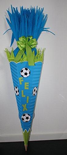 "Bastel-Set Schultüte ""Fussball"" Modell californiablau-maigrün -"