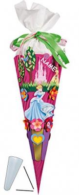 """BASTELSET Schultüte - """" Disney Princess """" - 85 cm - incl. Namen - Zuckertüte Nestler ALLE Größen - 6 eckig Prinzessinnen Dornröschen Belle -"""