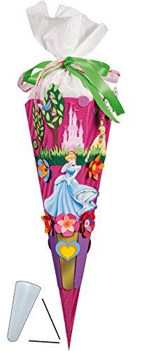 """BASTELSET Schultüte - """" Disney Princess """" - 85 cm - Zuckertüte Nestler - 6 eckig Prinzessinnen Dornröschen Belle -"""