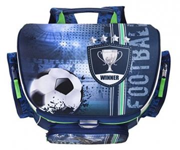 Fußball Schulranzen Set 9-teilig mit Federmappe, Schultüte 85cm, Turnbeutel, Regen/Sicherheitshülle FCPR8252 -