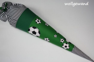 °Fussball° Schultüte (Kissen & Name möglich)