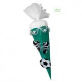 Schultüte Bastelset Fußball grün-weiß inkl. ...