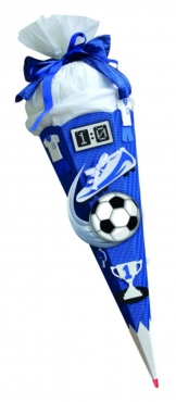 Schultüte Bastelset Soccer blau inkl. Schulstar...