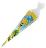 Schultüte - Biene Maja 85 cm - mit / ohne Kunststoff Spitze - Tüllabschluß - Zuckertüte für Mädchen Jungen -