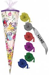 Schultüte - Disney´s Princess ABC 70 cm - incl. individueller SCHLEIFE mit Filzabschluß - -