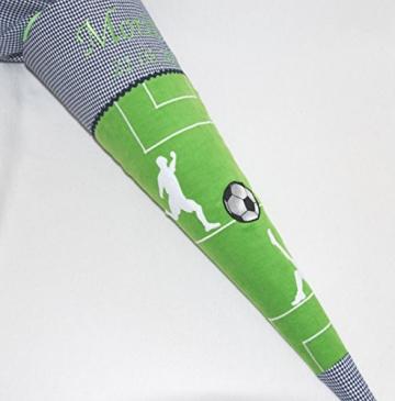 """Schultüte """"Fußball"""" personalisiert mit Namen von Glückspilz -"""