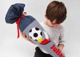 Schultüte mit Fußball und Namen