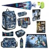 Star Wars Schulrucksack Set 12tlg. Federmappe gefüllt, Sporttasche, Schultüte 85cm Scooli Ranzen Twixter SWLS7550 -